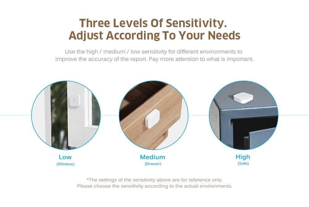 Aqara Smart Vibration Sensor for Home Safety International Edition ( Xiaomi Ecosystem Product )- White