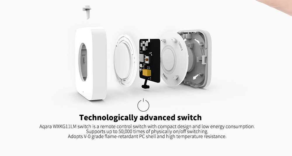 Aqara WXKG11LM Smart Wireless Switch Intelligent Home Application Remote Control Asia Pacific Version ( Xiaomi Ecosystem Product )- White