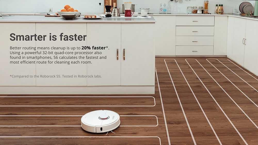 roborock S6 Robot Vacuum Cleaner from Xiaomi youpin- Graphite Black EU Plug