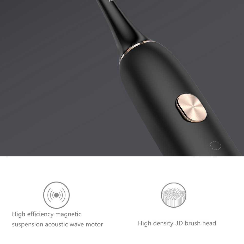 Original Xiaomi Soocare Sonic IPX7 Waterproof Bluetooth Electric Toothbrush Platinum Edition (Black)