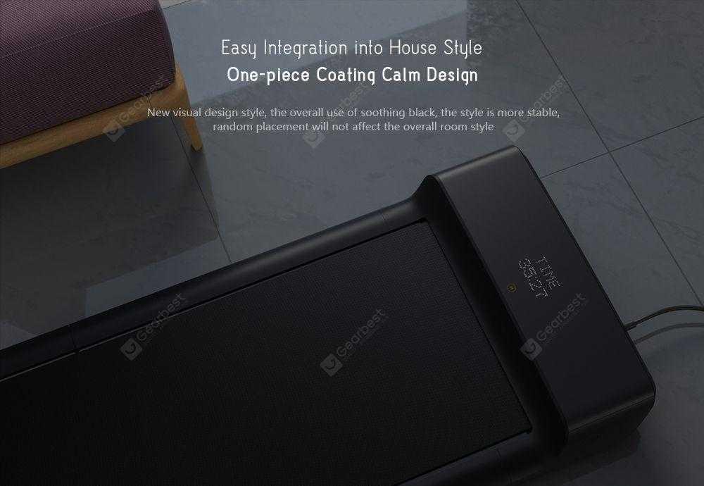 WalkingPad A1 Pro Household Portable Folding Walk Machine from Xiaomi youpin- Black