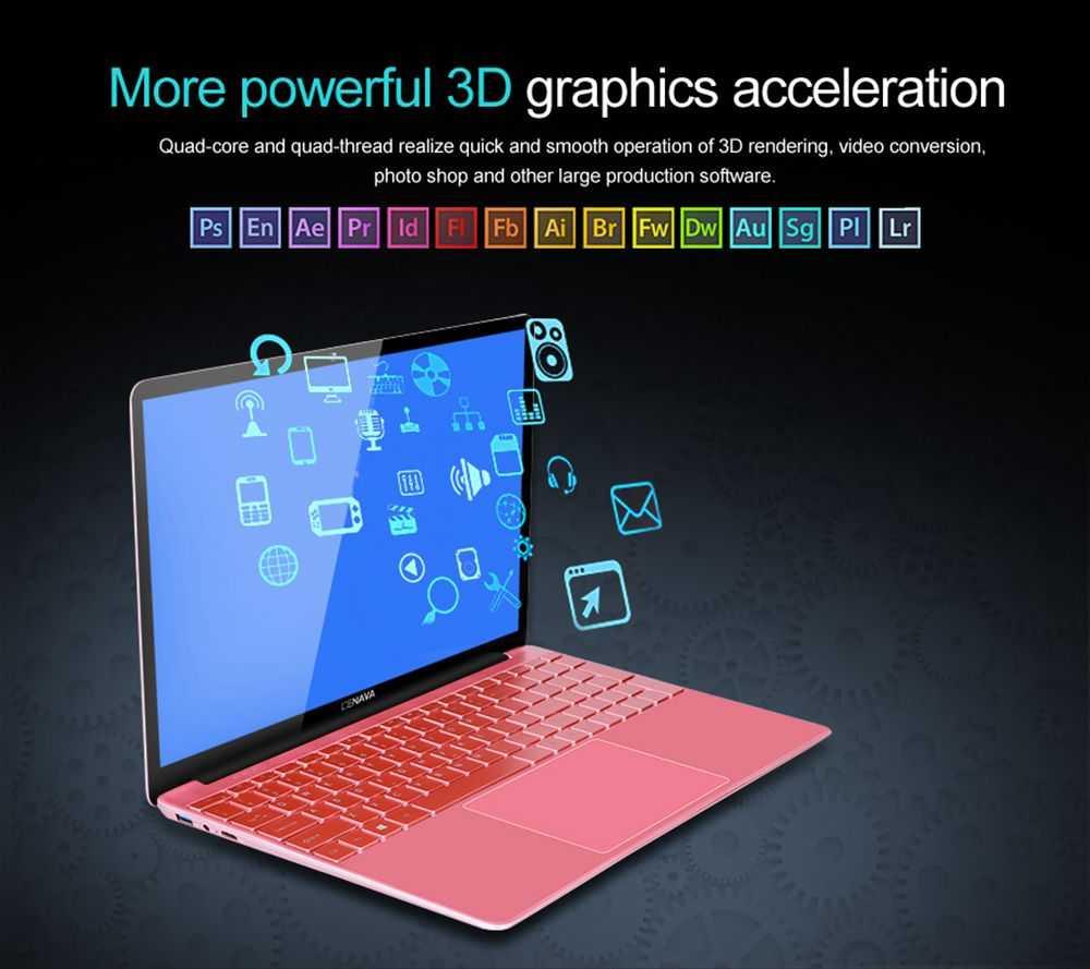 "Cenava P151 Laptop Intel Celeron J3455 Quad Core 15.6"" 1920*1080 Windows 10 8GB RAM 256GB SSD - Rose Gold"