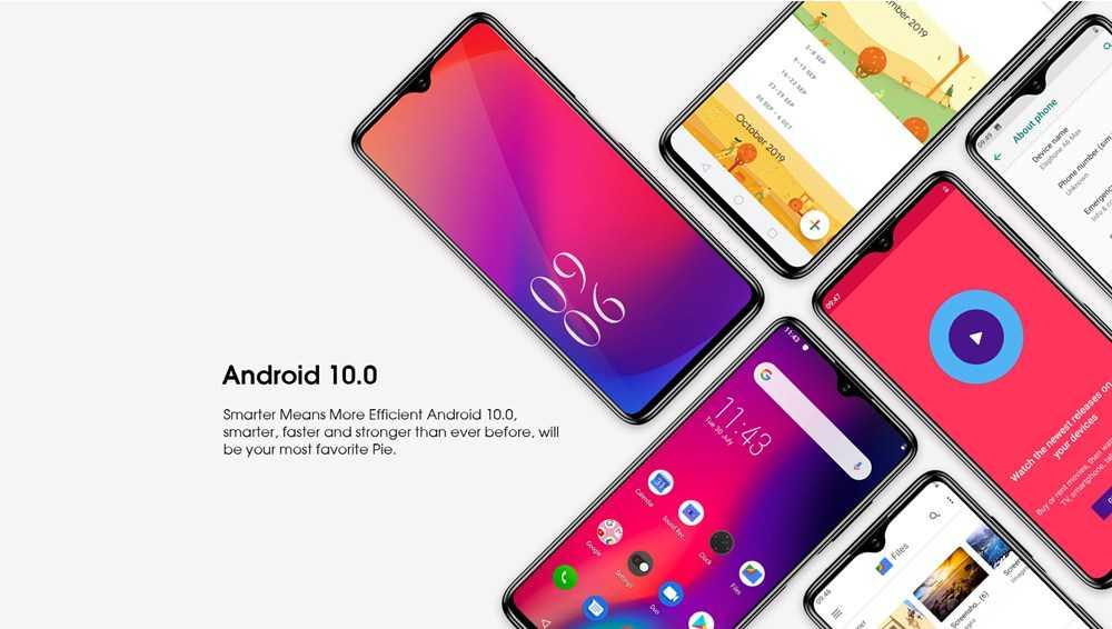 Elephone E10 European Version 6.5 Inch 4G LTE Smartphone MT6762D 4GB RAM 64GB ROM Quad Rear Cameras Android 10 4000mAh Battery Dual SIM Dual Standby - Blue
