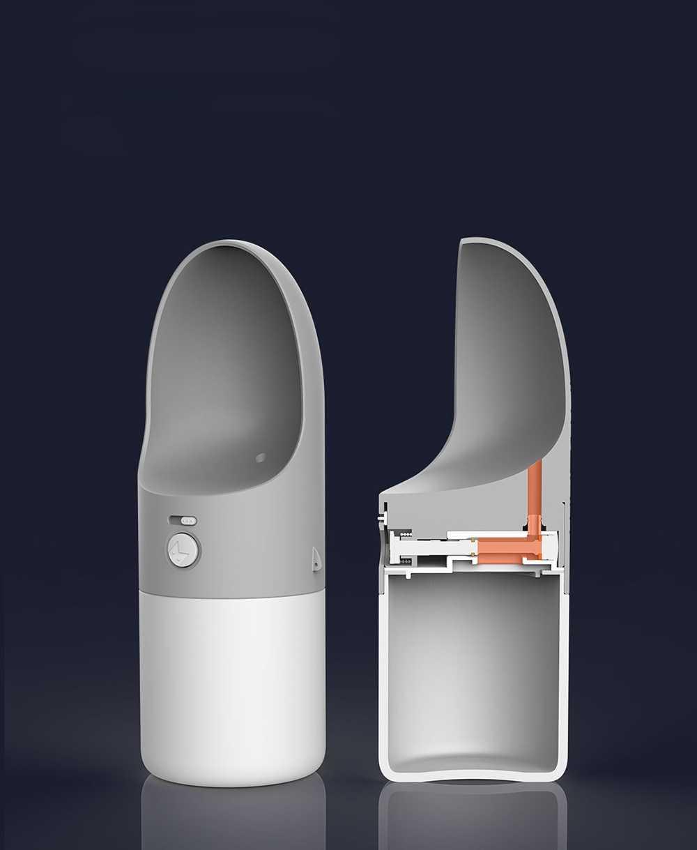 Moestar Rocket Multi-Functional Portable Bottle Orange/Grey