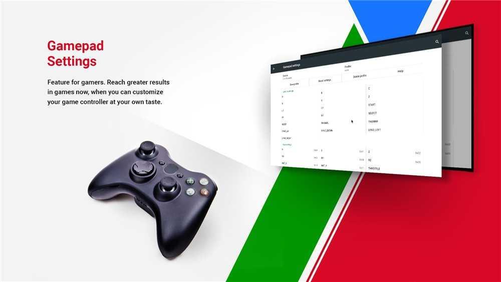 2. Gamepad settings