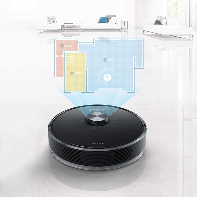 Roborock T6 Robotic Vacuum Cleaner Black 1571980354006
