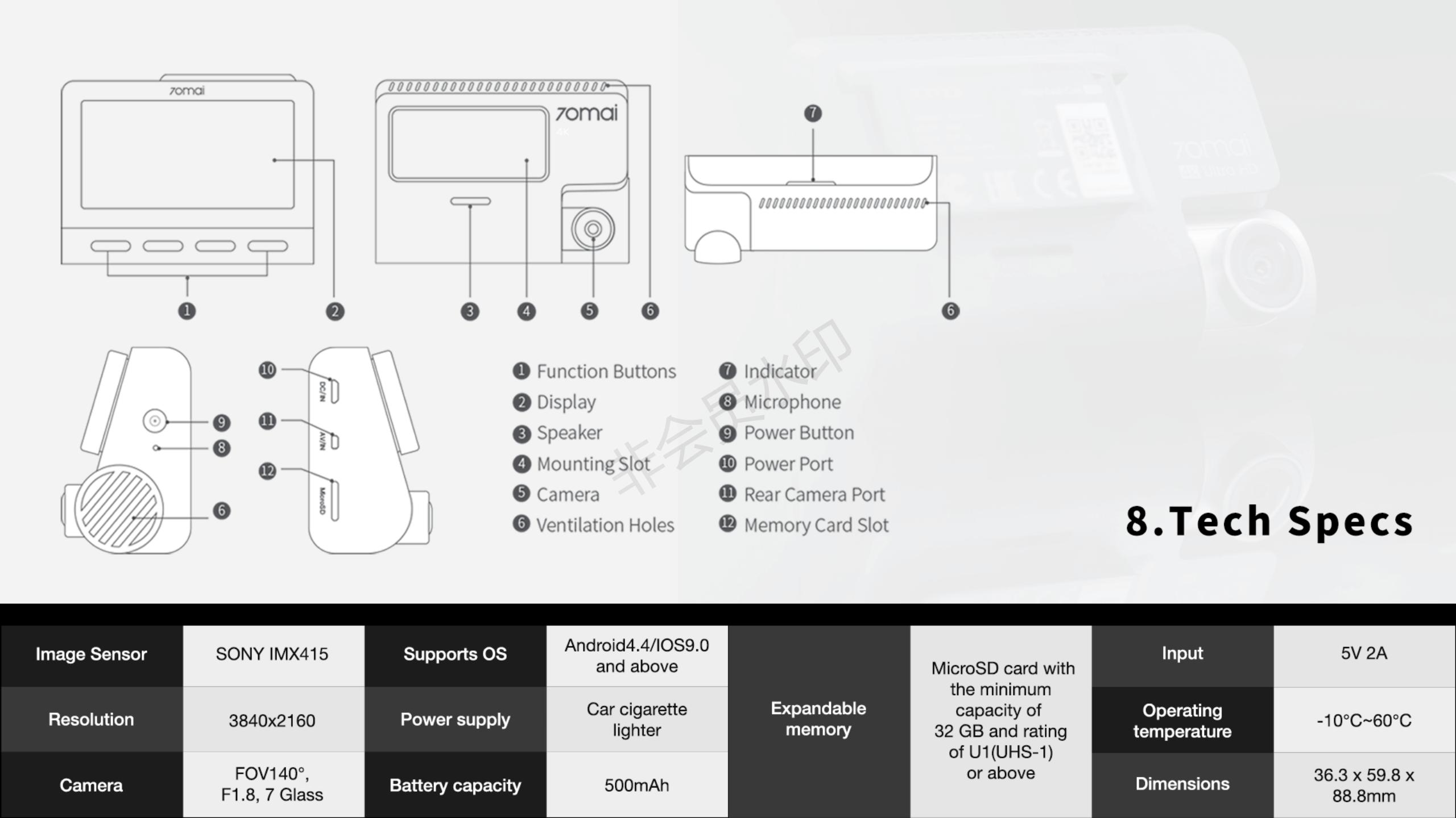 70mai A800 Dash Cam Wholesale