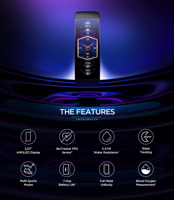 Amazift X Band, Curved Smartwatch Supply